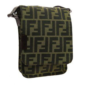 FENDI Zucca Cross Body Shoulder Bag Pochette Purse